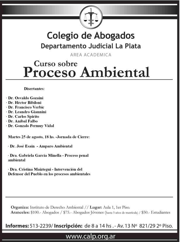 CURSO PROCESO AMBIENTAL. CALP