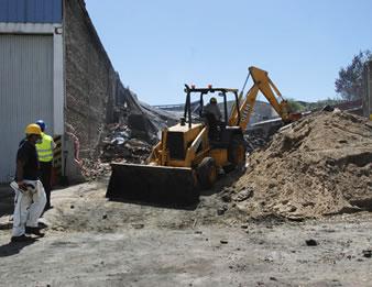 Remueven escombros químicos en el sitio del incidente