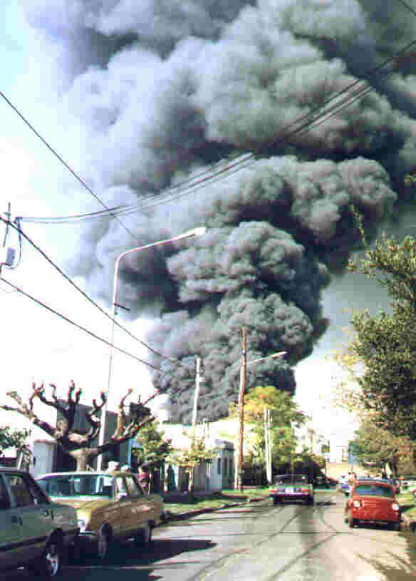 Incendio en Johnson durante el 22 de mayo de 1999