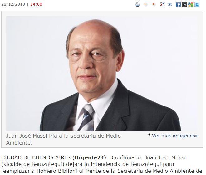 Juan José Mussi nuevo secretario de ambiente de la Nación.