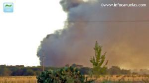 incendio de un basural a cielo abierto en Cañuelas.