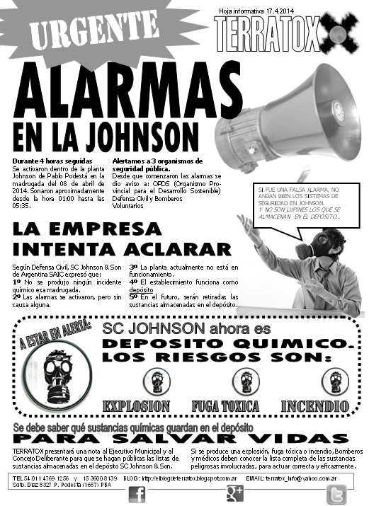 Alarmas en SC Johnson 08.4.14