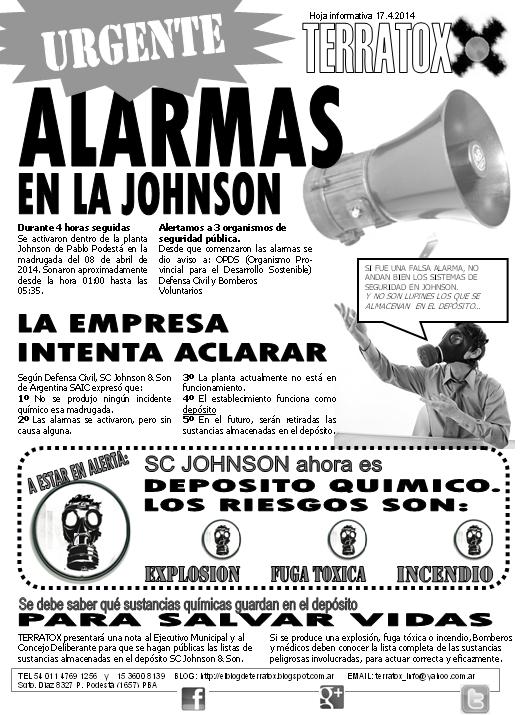 Alarmas en SC Johnson 08.4.14