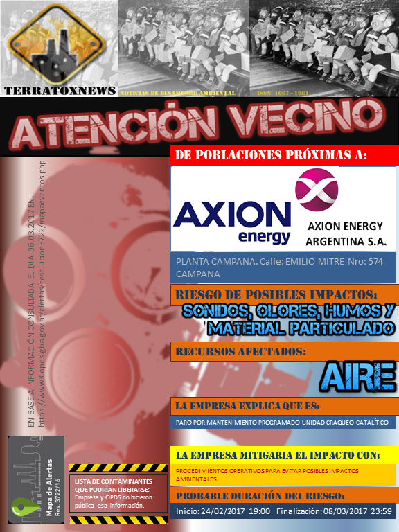 AXION ENERGY ARG SA CAMPANA 06.03.2017