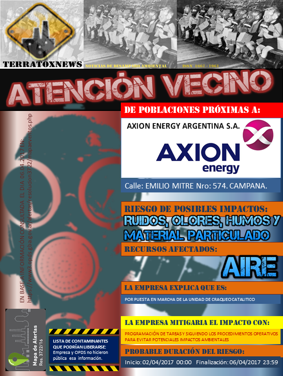 AXION ENERGY ARGENTINA S.A. CAMPANA 06.04.2017