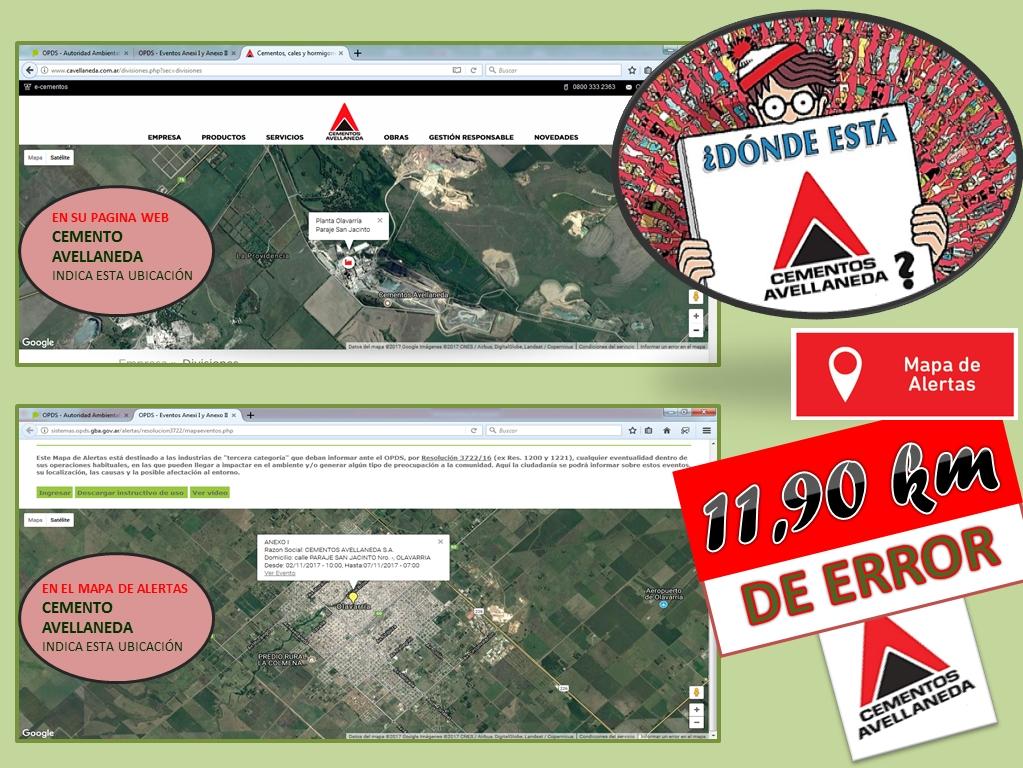 cemento avellaneda error mapa alerta