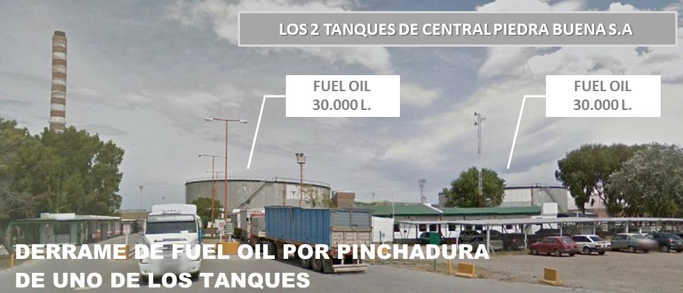 CENTRAL PIEDRA BUENA B.Blanca tanques fuel oil incidente 01.02.2018
