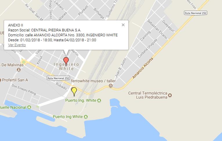 CENTRAL PIEDRA BUENA SA 01.2.2018 error en mapa de alerta