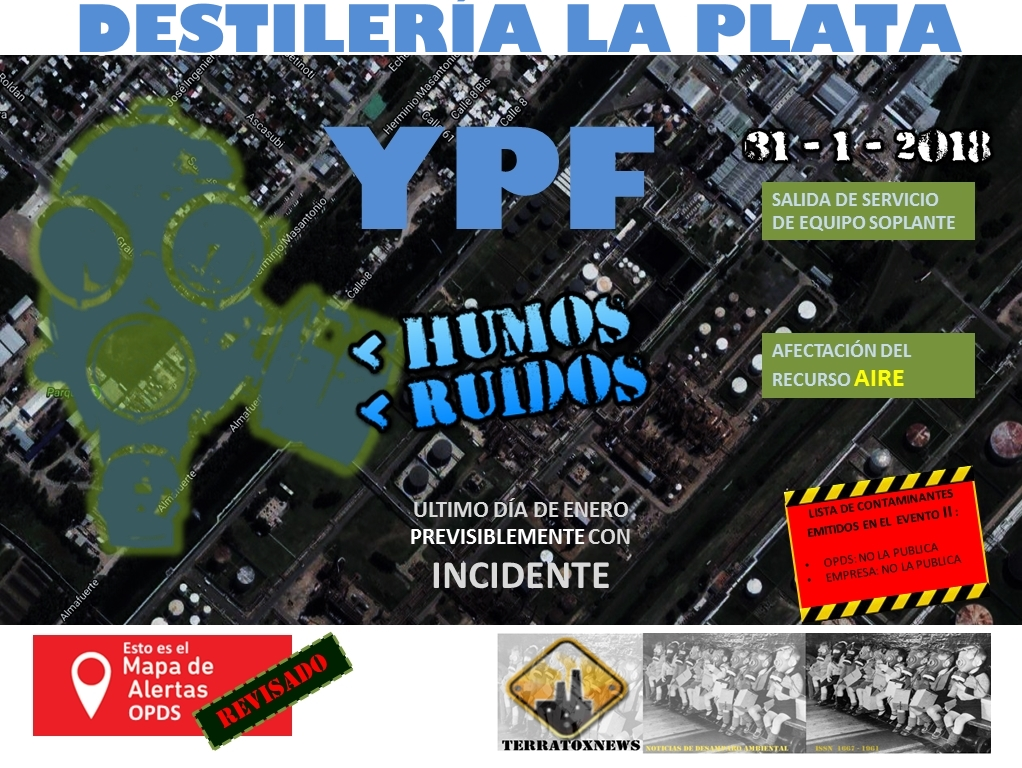 YPF incidente enero 31 a feb 1º