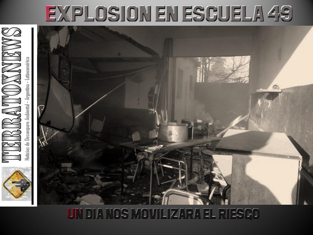 EXPLOSIÓN ESCUELA 49 MORENO 02.08.2018