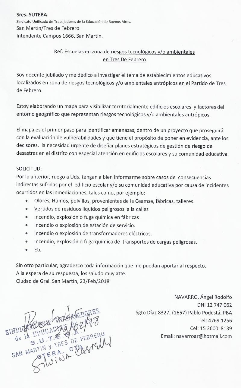 P.I. a SUTEBA 23.2.2018